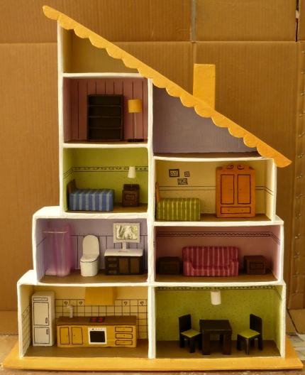 Мебель и домики из картона своими руками 394