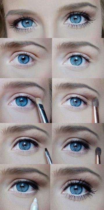 Фото макияж глаз с белым карандашом для глаз