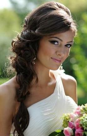 Svatební účes pro dlouhé vlasy, máte foto?