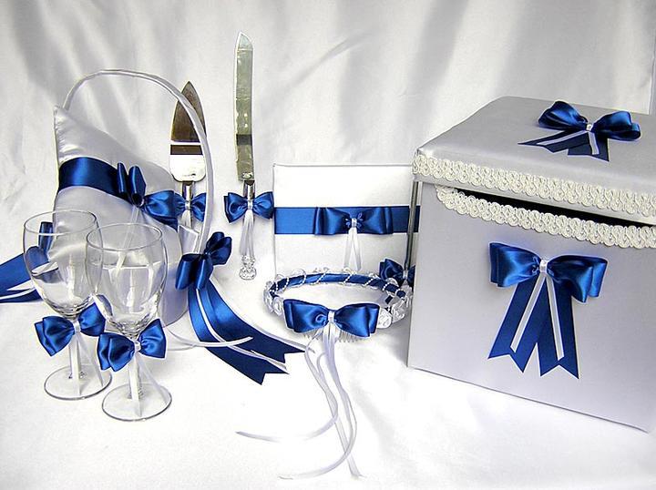 Подушечка для колец с синем цветом