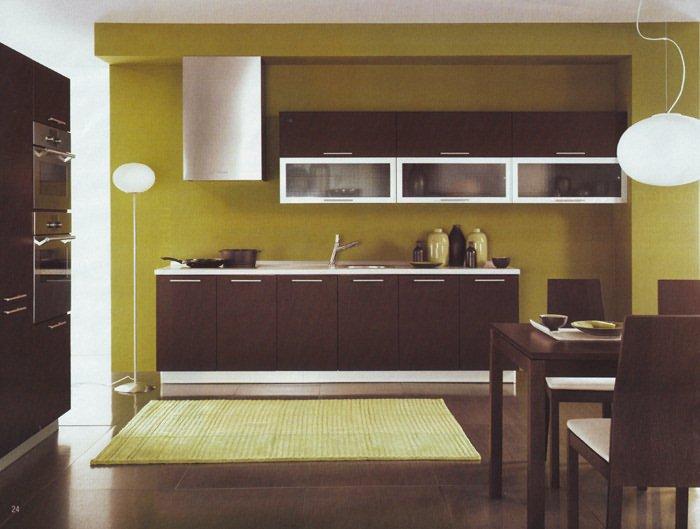 Сочетание цветов в интерьере кухни венге