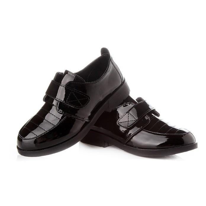 Černé dětské společenské boty 305fded641