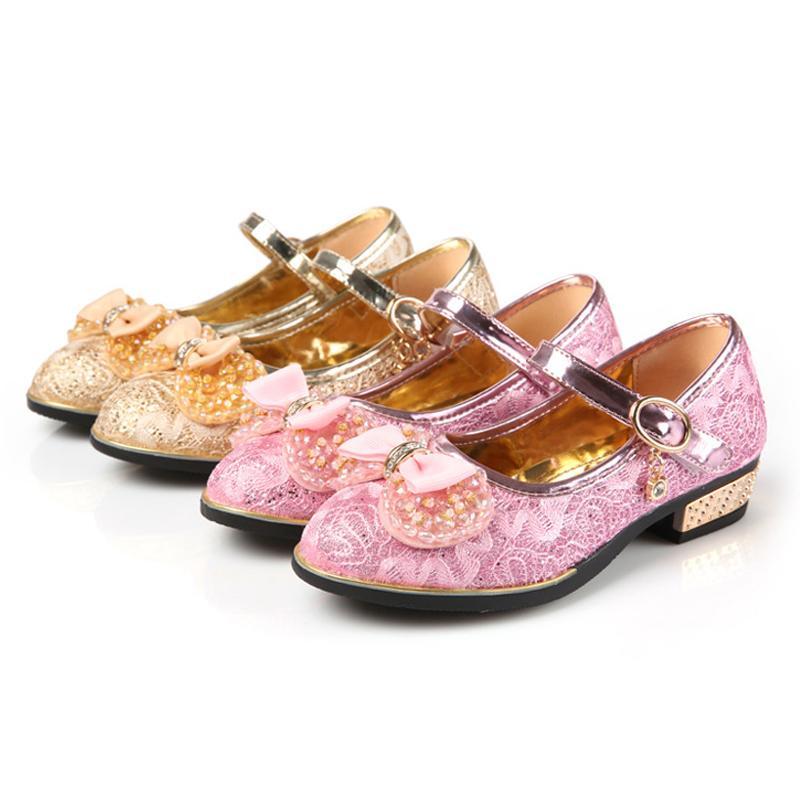 Krajkové dětské boty s podpatkem 8e0bb5c958