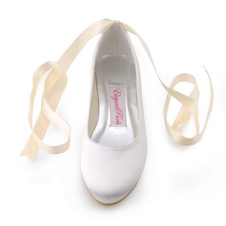 11105EP - Saténové baleríny, bez podpatku, 36