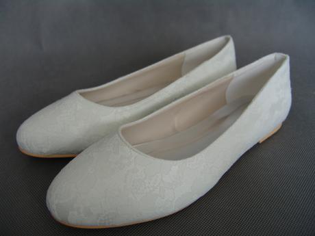 11106EP - Krajkové baleríny, bez podpatku, 36