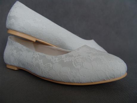 11106EP - Krajkové baleríny, bez podpatku, 42