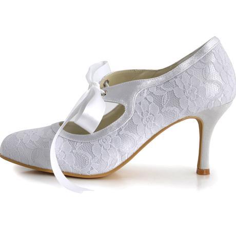 AKCE - 1522 - Krajkové svatební lodičky, 35-42, 36