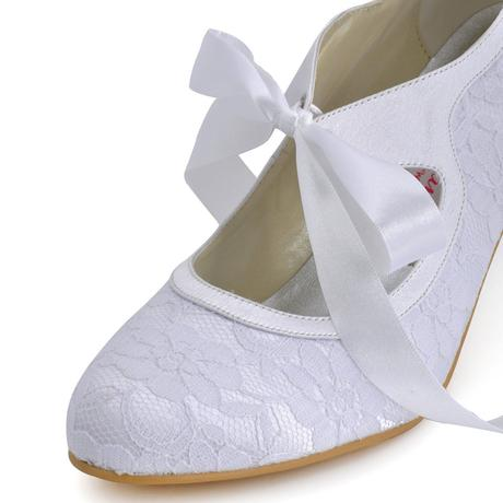 AKCE - 1522 - Krajkové svatební lodičky, 35-42, 40