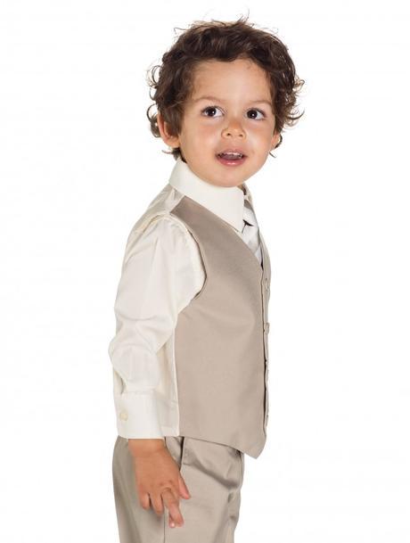 AKCE - béžový dětský oblek k zapůjčení, 128