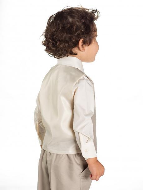 AKCE - béžový dětský oblek k zapůjčení, 86