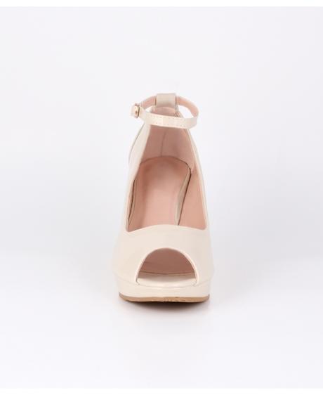 AKCE - bílé svatební boty na klínku, 36-41, 37