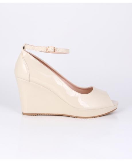 AKCE - bílé svatební boty na klínku, 36-41, 39