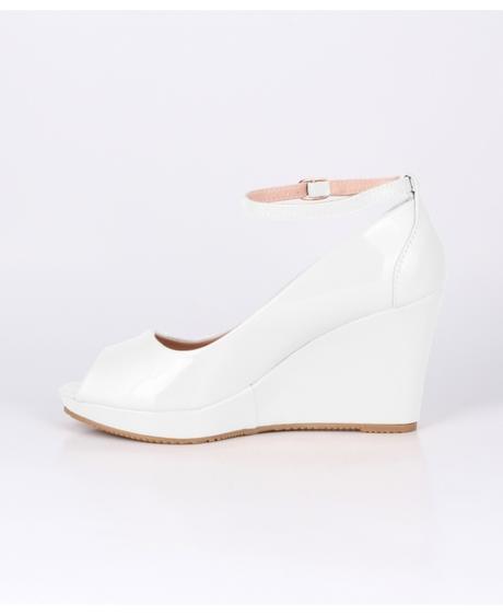 AKCE - bílé svatební boty na klínku, 36-41, 41