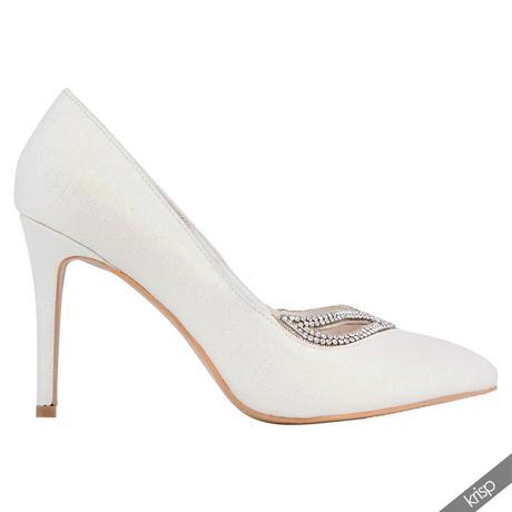 AKCE - bílé svatební lodičky, 36-41, 37