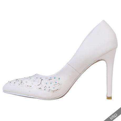 AKCE - bílé svatební lodičky, 36-41, 38