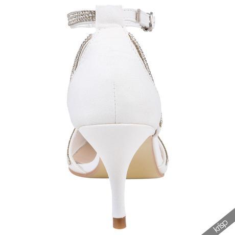 AKCE - bílé svatební lodičky, 36-41, 39
