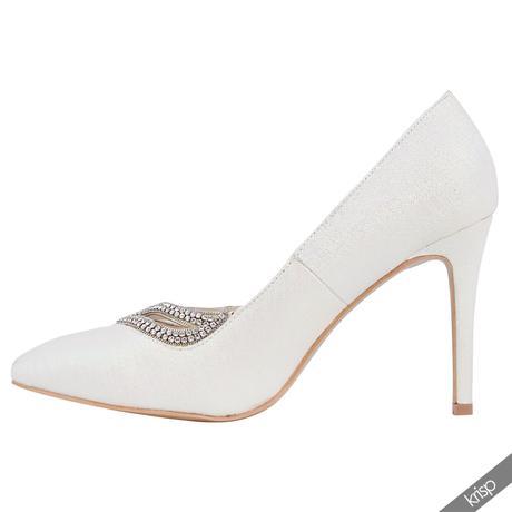 AKCE - bílé svatební lodičky, 36-41, 41