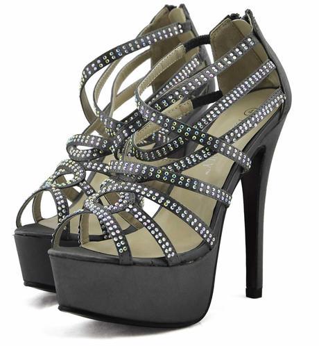 AKCE - černé extravagantní boty, 36-41, 40