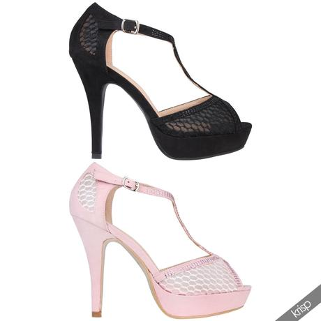 AKCE - černé plesové sandálky, 36-41, 39