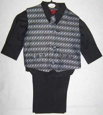 AKCE - černý dětský oblek, 3 měsíce - 10 let, 86