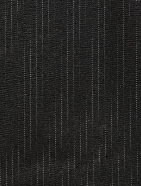 AKCE - černý proužkatý oblek, jen některé velikost, 116