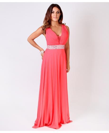 AKCE - coral společenské šaty, výprodej, 36