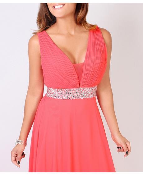 AKCE - coral společenské šaty, výprodej, S