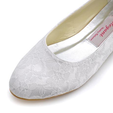 AKCE - ivory krajkové svatební baleríny, 40
