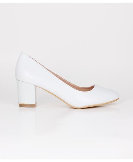 AKCE - jednoduché bílé svatební lodičky, 36-41, 37