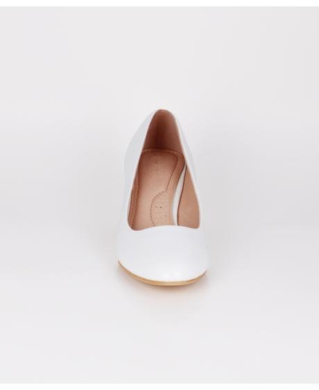 AKCE - jednoduché bílé svatební lodičky, 36-41, 39
