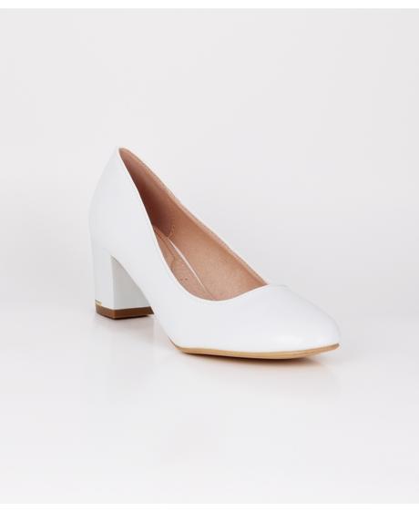 AKCE - jednoduché bílé svatební lodičky, 36-41, 40