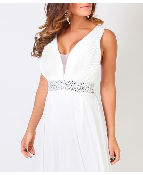 AKCE - krémové společenské, svatební šaty, S