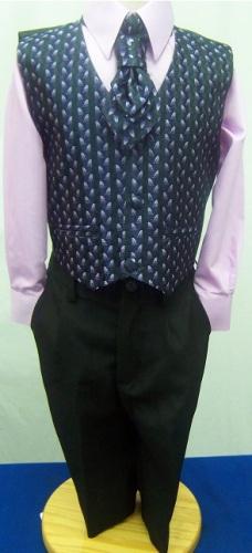 AKCE - lilla, černý oblek k zapůjčení 6m-10let, 122