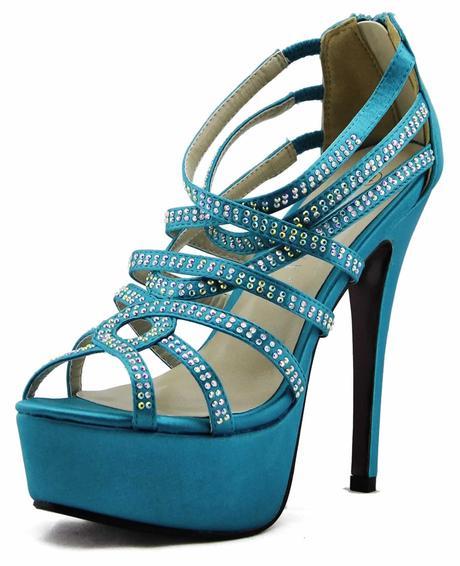 AKCE - modré, tyrkys extravagantní sandálky, 36-41, 36