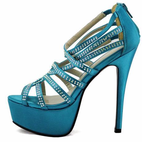 AKCE - modré, tyrkys extravagantní sandálky, 36-41, 38
