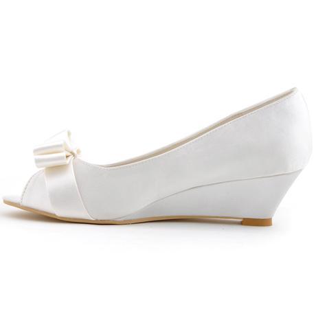 AKCE pouze dnes 3.3. - svatební obuv na klínku, 35