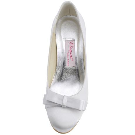 AKCE - saténové bílé, ivory svatební lodičky, 41