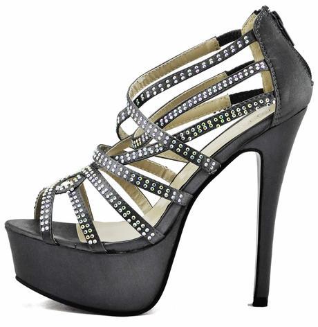 AKCE - šedé extravagantní sandálky, 36-41, 37