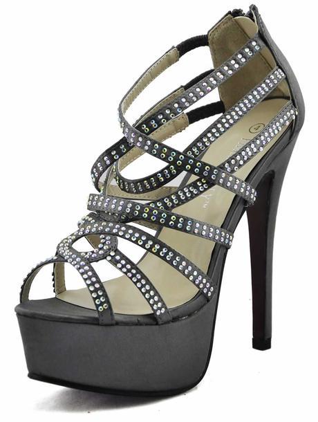 AKCE - šedé extravagantní sandálky, 36-41, 39