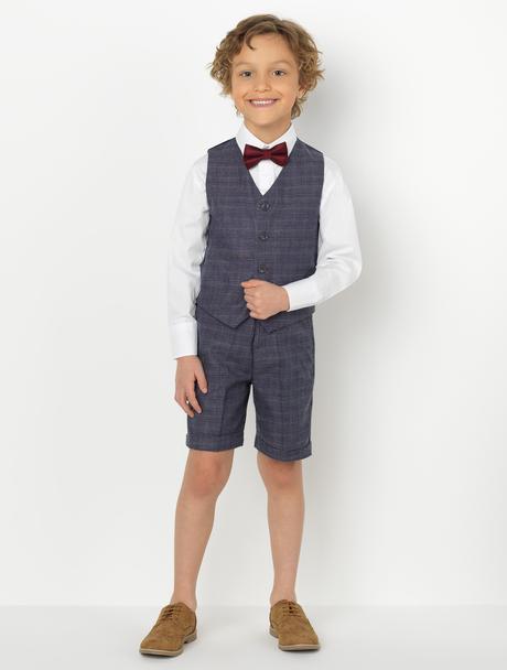 AKCE - šedý oblek k zapůjčení, k prodeji, 128