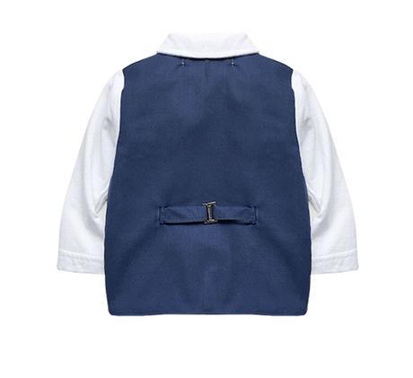 AKCE - tmavě modrý oblek k zapůjčení, 92