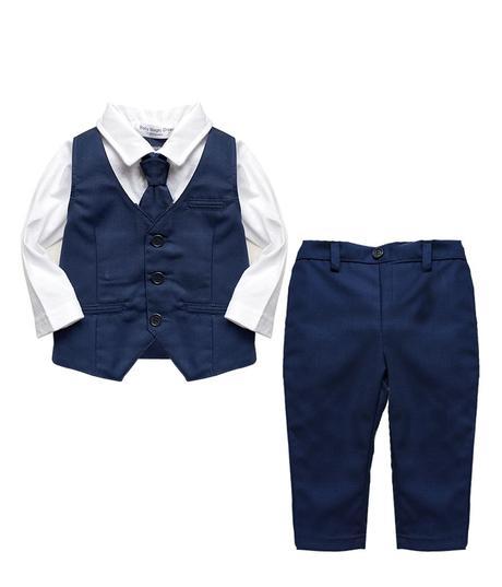 AKCE - tmavě modrý oblek k zapůjčení, 98