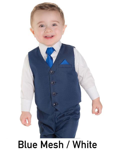 AKCE - tmavě modrý oblek k zapůjčení, akční cena, 122