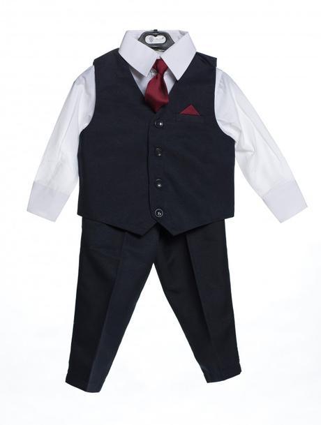AKCE - tmavě modrý oblek, pouze některé velikosti, 80