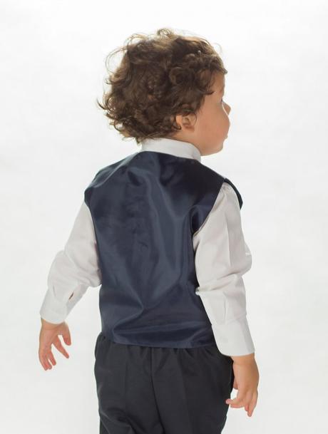 AKCE - tmavě modrý oblek, pouze některé velikosti, 122