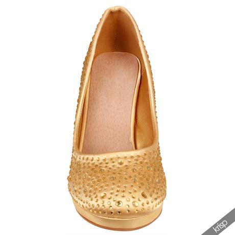 AKCE - zlaté plesové společenské lodičky, 36-41, 36