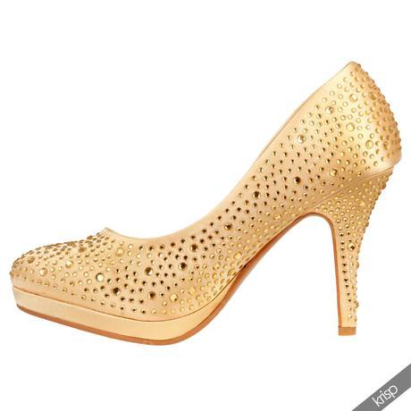 AKCE - zlaté plesové společenské lodičky, 36-41, 37