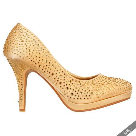 AKCE - zlaté plesové společenské lodičky, 36-41, 39