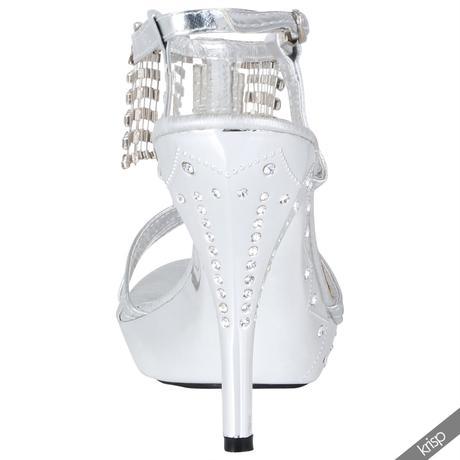 AKCE - zlaté plesové společenské sandálky, 36-41, 36