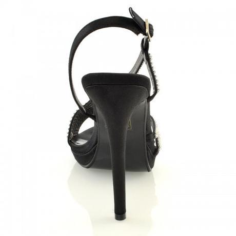 ASHLEIGH, černé plesové sandálky, 36-41, 36